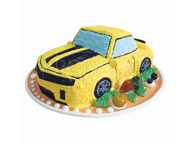 CS078P  Bumblebee Yellow Car