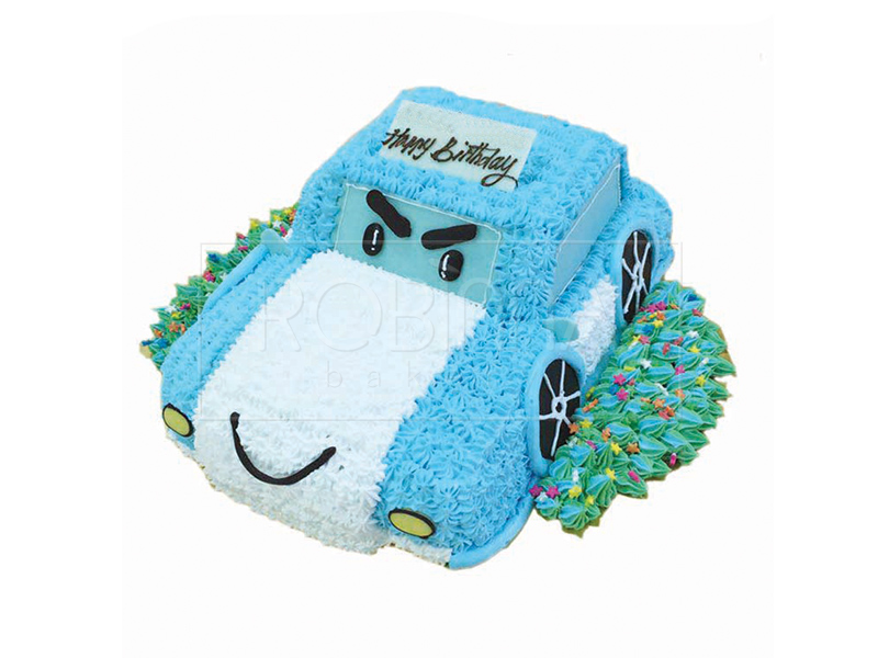 CS089P   Cartoon Blue Car