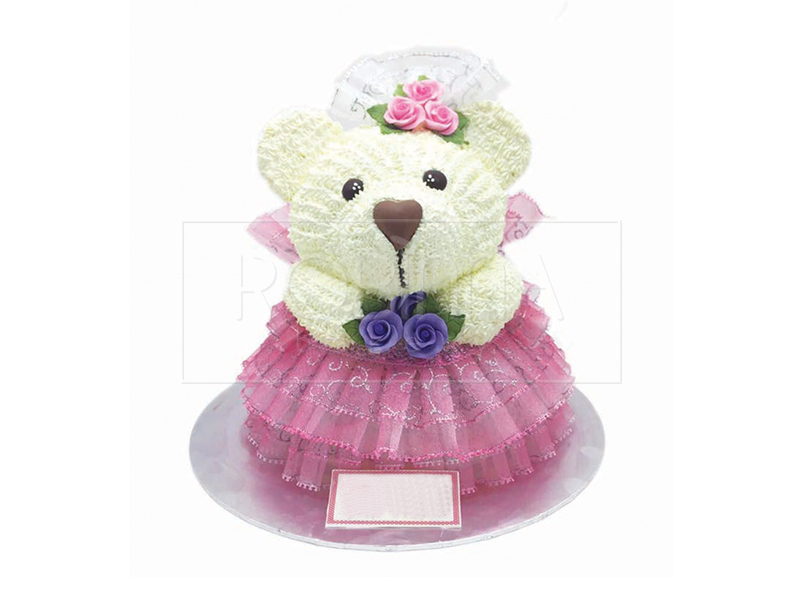CS103  Purple Rose Bear