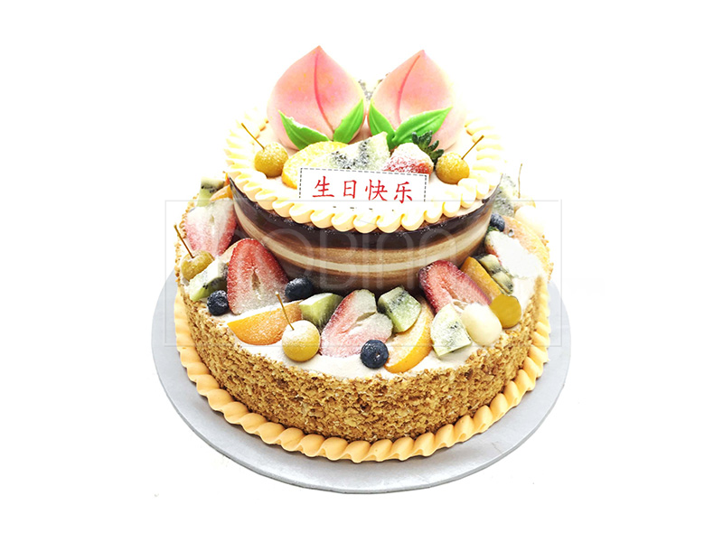 LG026  Two Tiers Fruit Cake