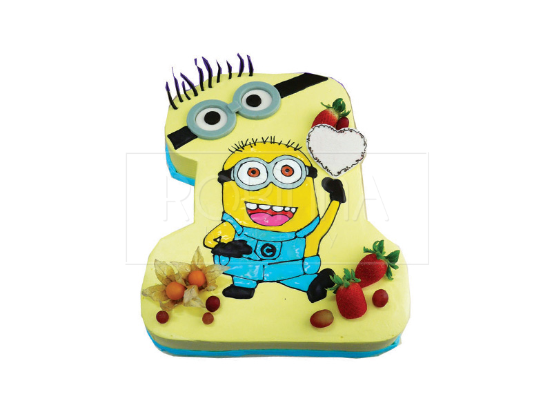 NB031  Number 1 Minion Cake